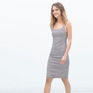 Zara Trafaluc Dress Navy & White Stripe Medium